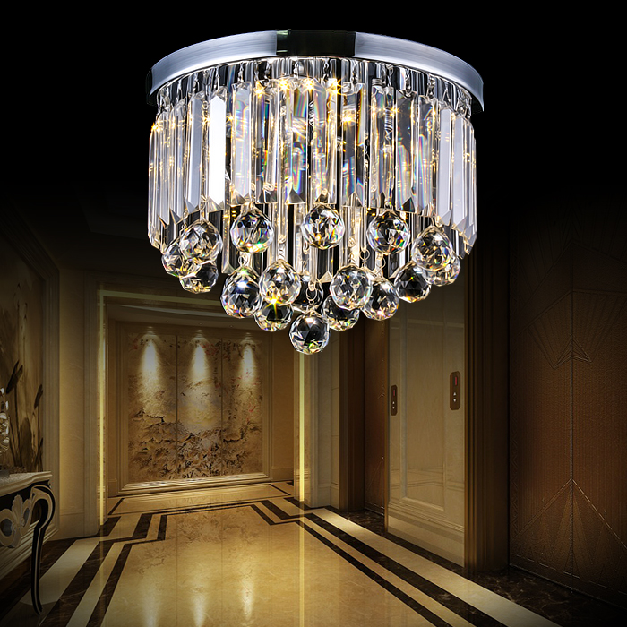 The circular crystal LED ceiling lamp simple rectangular hall aisle stairs Affirmative balcony lamp porch ceiling lights SJ134 aisle lights crystal chandeliers modern simple single ceiling lamp balcony lamp hall light led small porch light led fixture led