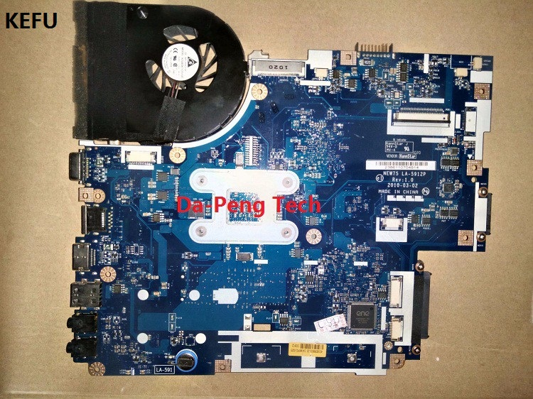 KEFU Laptop Motherboard FOR ACER 5552G 5551G LA-5912P + Heatsink=instead LA-5911P Motherboard 100% Tested