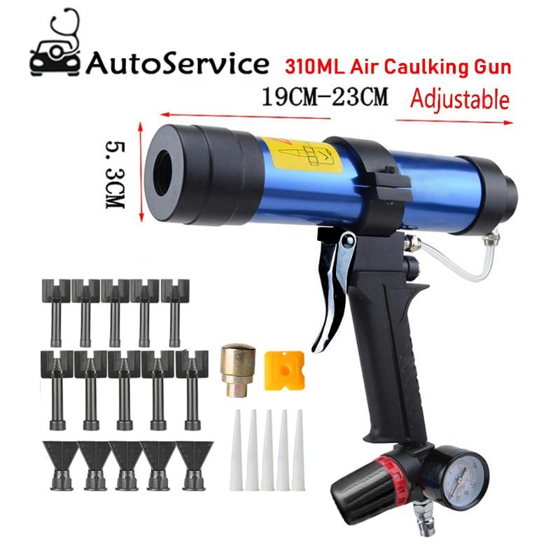 310 ML pistolet à calfeutrer Air distributeur de cartouche pneumatique silicone mastic applicateur verre collage outil Construction pistolet à calfeutrer
