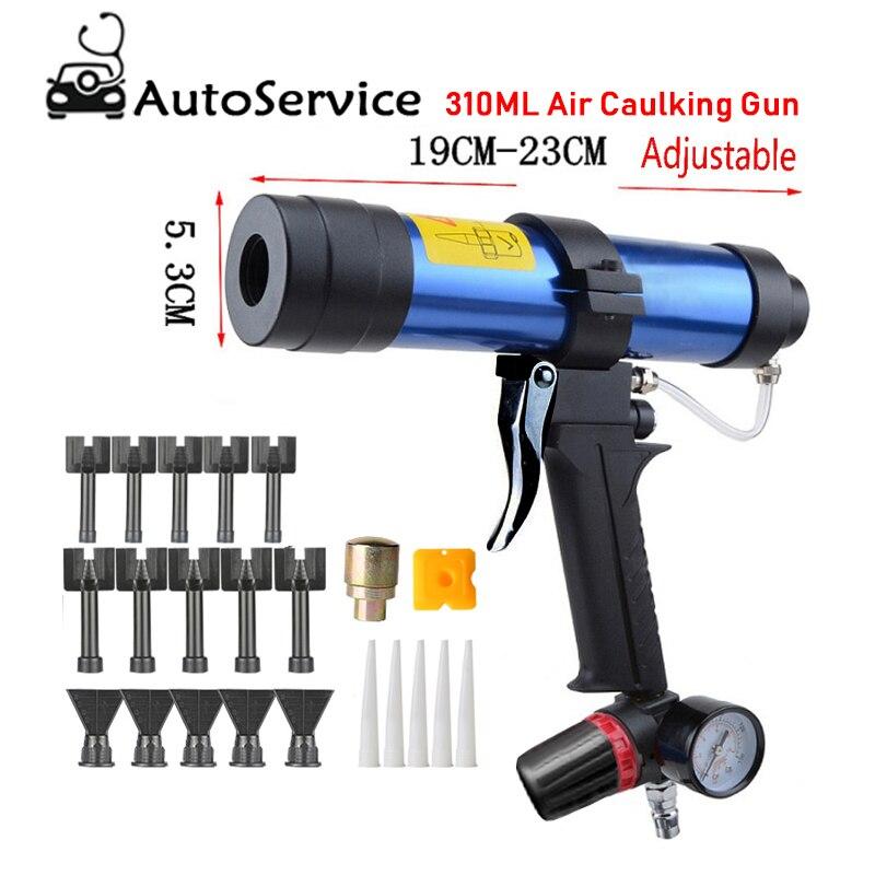 310ML Air Caulking Gun Pneumatic Cartridge Dispenser Silicon Sealant Applicator Glass Gluing Tool Construction Caulking Gun