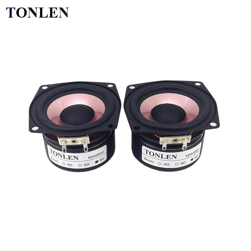 TONLEN 2PCS Full Range Speaker 2.5 inch 4 ohm 8ohm Soundbar s