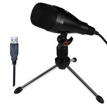Freeboss CM 03 kayıt kardioid elektret kondenser USB bilgisayar mikrofon için Tripod ile Podcast bilgisayar dizüstü PC kayıt