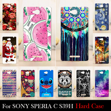 FOR SONY Ericsson xperia c s39h s2305 Case Hard Plastic Cellphone Mask Case Protective Cover Housing