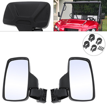 2pcs 20.9CM SPAUTO UTV Side View Mirrors Mirror with 1.75 and 2 Mounts Rubber Pad for General Motorcycle