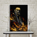 African Nude Woman Indian Black and Gold Oil Painting on Canvas Posters and Prints Scandinavian Wall Art Picture for Living Room