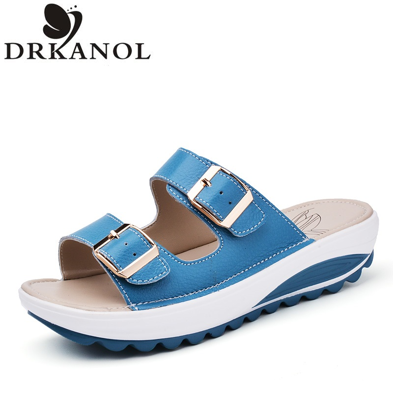 font b Women b font Sandals 2016 Summer Genuine Leather Flip Flop font b Woman