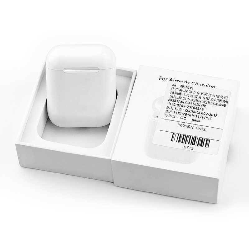 buy popular 9a90c c8a87 For Apple Airpods Wireless Charging Receiver Case QI Standard 1:1 replace  Original Airpods Wireless Receiver Wirless Charger