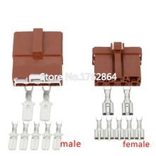 5 Sets 7-pin automotive cable connector  plug terminal DJ7071-6.3 / 7.8-11/21 car