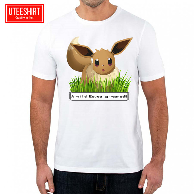 a7fafedd58 Men s Pokemon Eevee Pocket Tee Evolution Funny Crossover Artwork Awesome  Unisex Short Sleeve O-Neck