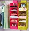 Lesort Home Storage Organization Multi-layer 6-shelf Polyester fabric wardrobe clothing closet hanging mesh sorting organizer