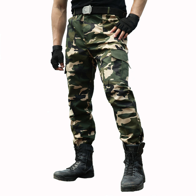 dbc0ffacd7652 Cargo Pants Men Overalls Military Style Work Pants Tactical Trousers Army  Men Workwear Airsoft Paintball Camouflage Clothes
