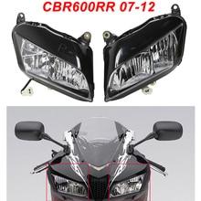 For 07-12 Honda CBR600R CBR 600RR Motorcycle Front Headlight Head Light Lamp Headlamp CLEAR 2007 2008 2009 2010 2011 2012 for 07 12 honda cbr600rr cbr 600rr black upper front headlight headlamp bracket fairing stay 2007 2008 2009 2010 2011 2012