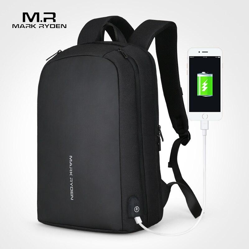 Mark Ryden hombres mochila multifunción USB recarga puede caber 15,6 pulgadas portátil Casual mochilas para hombre