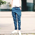 2016 New Fashion Closing Leg Jeans Spring Autumn Male Taxi Elastic Stretch Pants Feet Pants Tide Beam