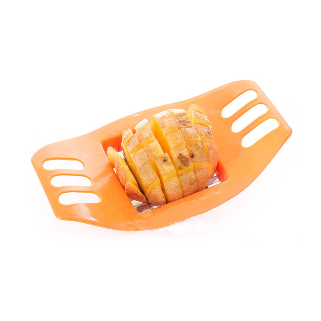 1Pcs Potato Slicer Stainless Steel Vegetable Square Manual Slicer Fries Fruit Chopper Home Kitchen Gadget Accessories Hot New 5