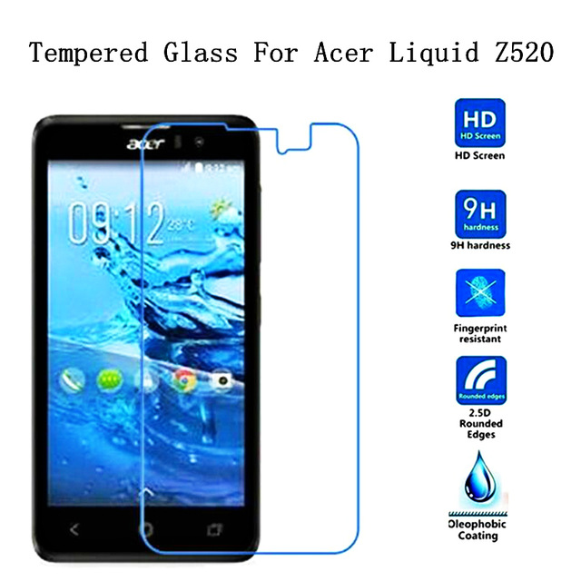 2.5D Edge 0.3mm Ultra-thin 9H Tempered Glass For <font><b>Acer</b></font> <font><b>Liquid</b></font> <font><b>Z520</b></font> Screen Protector For <font><b>Acer</b></font> <font><b>Z520</b></font> Protective Glass Film <font><b>Case</b></font>