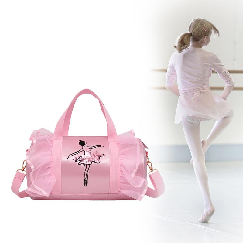 Discount Shoulder Ballet Dance Bags Pink Women Girls Ballet Sports Dance Backpacks Rucksack Embroidered Gym Bags For Child Girls