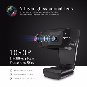 Image 2 - HXSJ new webcam HD1080P 30FPS auto focus computer camera USB sound absorbing microphone for laptops web cam