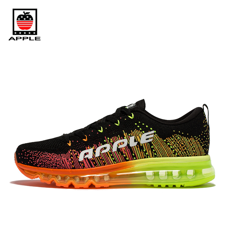 Apple Brand  Men Breathable Air Mesh Running Shoes Weaving Outdoor Athletic  Zapatillas Sport Jogging Sneakers Walking Shoes power supply board aps 315 for screen kdl 46hx750 1 886 049 12 t con connect board