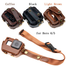 for Go Pro Hero 7 6 5 Case Protective Bag PU Leather Cover Chest Strap Mount for Gopro Hero 2018 Sport Action Camera Accessories цена в Москве и Питере