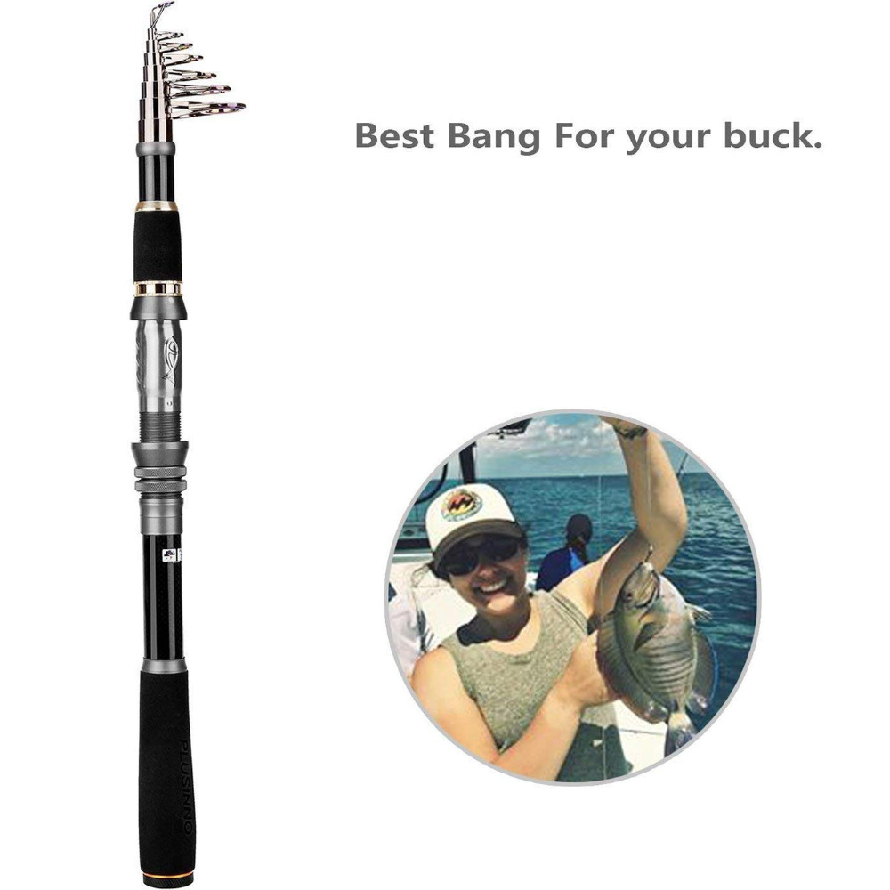 US $18 48 44% OFF|PLUSINNO Telescopic Fishing Rod Retractable Fishing Pole  Rod Saltwater Travel Spinning Fishing Rods Fishing Poles -in Fishing Rods