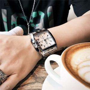 Image 5 - MEGIR Fashion Mens Watches Top Brand Luxury Quartz Watch Men Steel Date Waterproof Sport Watch Relogio Masculino