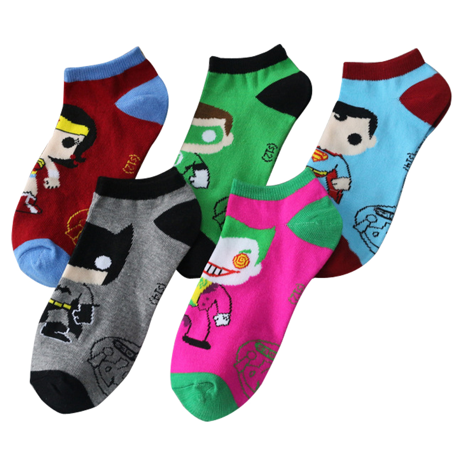 2017 Hot Sale Style Super Hero Socks Spiderman Hulk Batmen 3D Cartoon Socks Good Quality Men's Active Socks New Year Products
