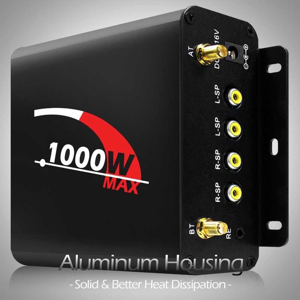 Aileap 1000 Вт усилитель Bluetooth мотоцикл стерео 4 колонки MP3 аудио FM Радио система для HARLEY/SUZUKI/HONDA/ATV/UTV (черный)