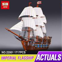 NEW LEPIN 22001 Pirate Ship Imperial Warships Model Building Kits Block Briks Toys Gift 1717pcs Compatible