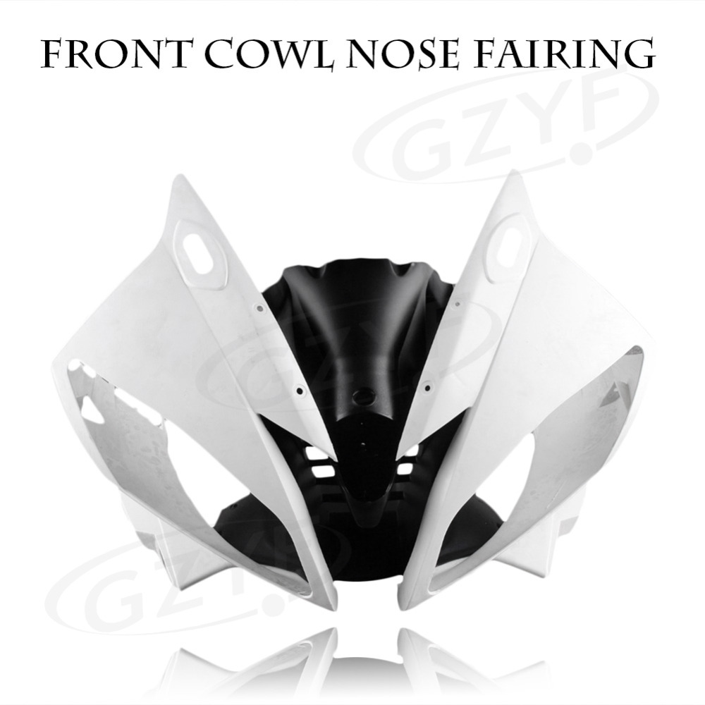 Unpainted Upper Front Cover Cowl Nose Fairing for Yamaha 06 07 YZF R6 2006 2007, Injection Mold ABS Plastic abs unpainted upper front fairing cowl nose for suzuki gsxr600 gsxr 750 2006 2007