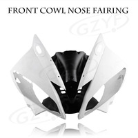 Unpainted Upper Front Cover Cowl Nose Fairing for Yamaha 06 07 YZF R6 2006 2007, Injection Mold ABS Plastic