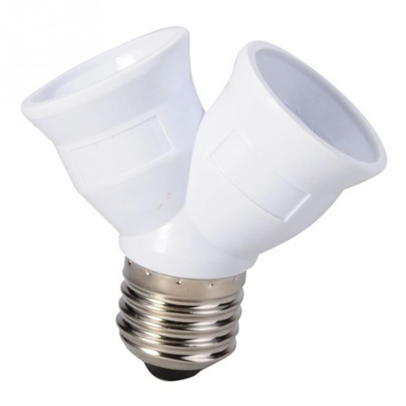 E27 To 2 E27 Light Bulb Lamp Socket Base Adapter Converter Splitter