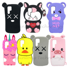 For Huawei P30 Pro Case Cover 3D Cute Cartoon Protective Back p30pro Soft Silicone Cat Bear Cases