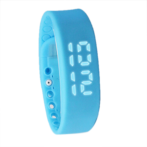 SZ-LGFM-New Waterproof Movement Health Pedometer Sleep Monitoring Smart Bracelet Watches blue