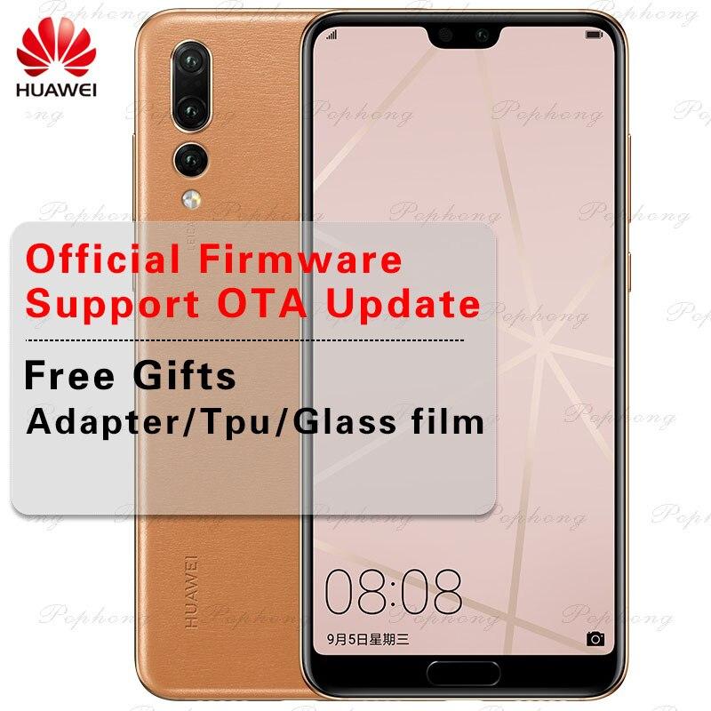 Наличии оригинальный huawei P20 Pro 6,1 дюймов Kirin 970 Octa Core IP67 смартфон 6 ГБ Оперативная память 40.0MP Android 8,1 лица ID перегружать NFC