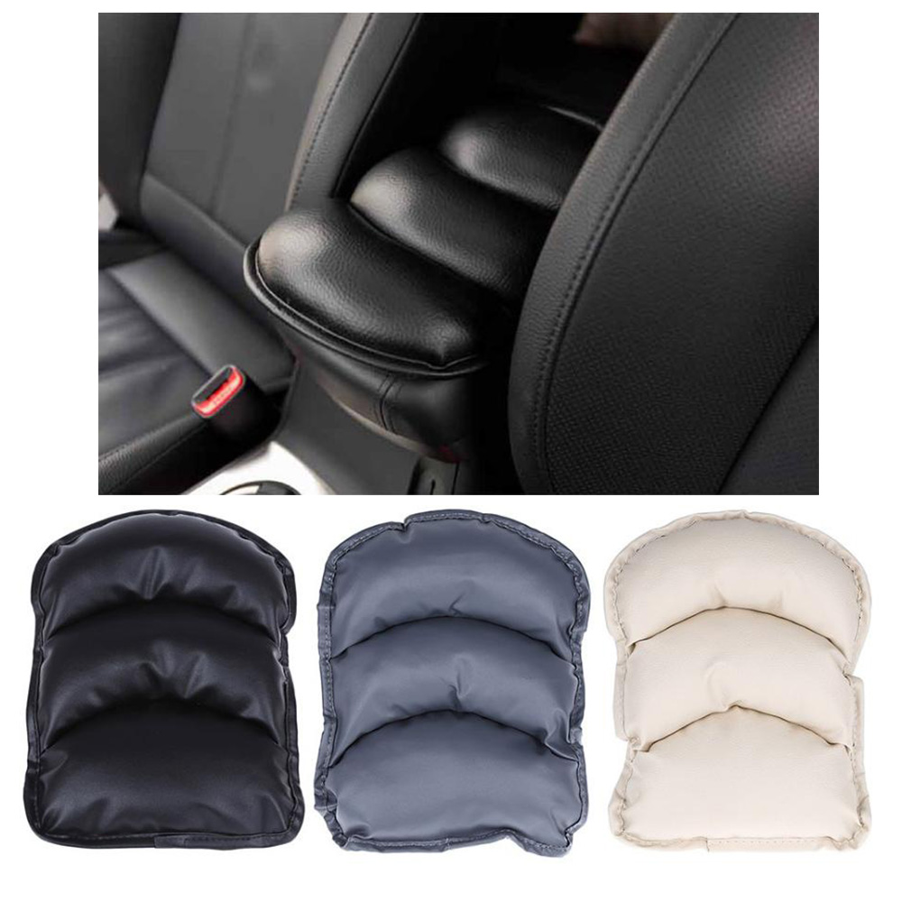 Console Armrest Cover Seat Pad Auto Car Soft PU Leather Protect Center Mat
