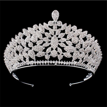 Rhinestone heabdand Silver Bride Headdress for Women Wedding Crown Princess Diadem Bridal tiaras hair jewelry accessories