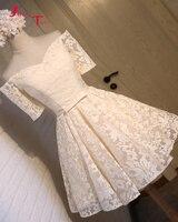 Jark Tozr под заказ, короткое платье Vestidos, короткий рукав бант розовый кружевной длиной выше колена мини платья для возвращения на родину Китай