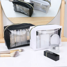 Waterproof Transparent PVC Bath Cosmetic Bag Women Make Up Case Travel Zipper Makeup Beauty Wash Organizer Toiletry Storage Kit 3 pcs set travel cosmetic bag transparent pvc women zipper clear makeup beauty case make up organizer large capacity wash bag