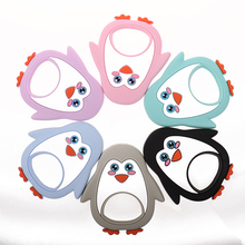 الجملة سيليكون البطريق الطفل التسنين القنفذ 10 قطعة Bpa الحرة الرضع مضغ التسنين قلادة قلادة اكسسوارات هدايا الممرضات