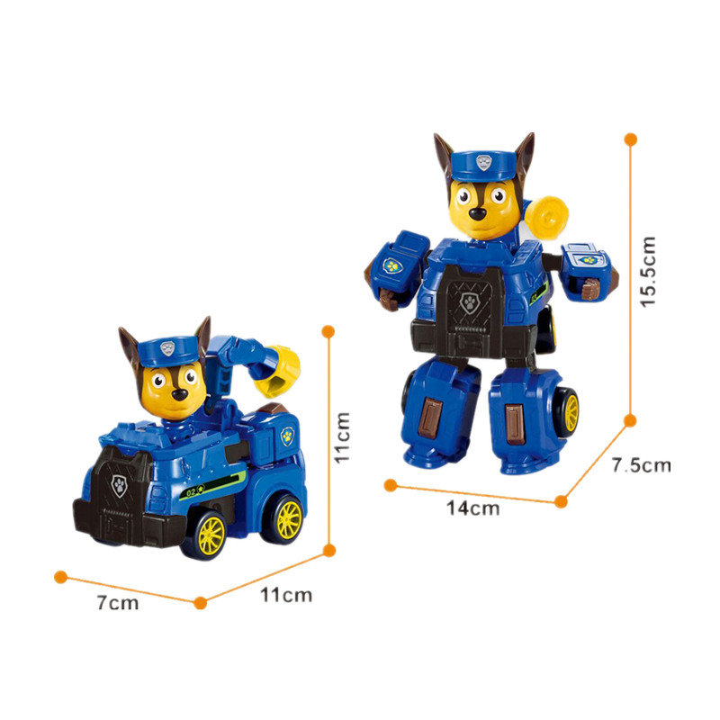 Paw Patrol dog Deformation Music Aircraft Speedboat Toys Patrulla Canina Robot dog Ryder Action PVC Figure Model Children in Action Toy Figures from Toys Hobbies