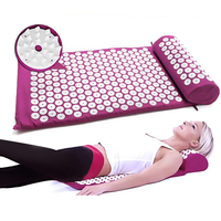 Body Acupuncture Massage Mat Muscle Relaxation Pain Relief Acupressure Reflexology Fitness Massage Pad With Pillow and Bag