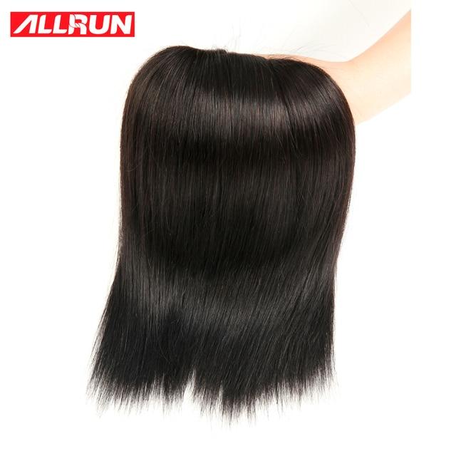 ALLRUN Hair Products Brazilian Straight Hair Bundles 1pc Human Hair No Tangle Non Remy Hair Natural Color  Can buy 3 or 4pcs