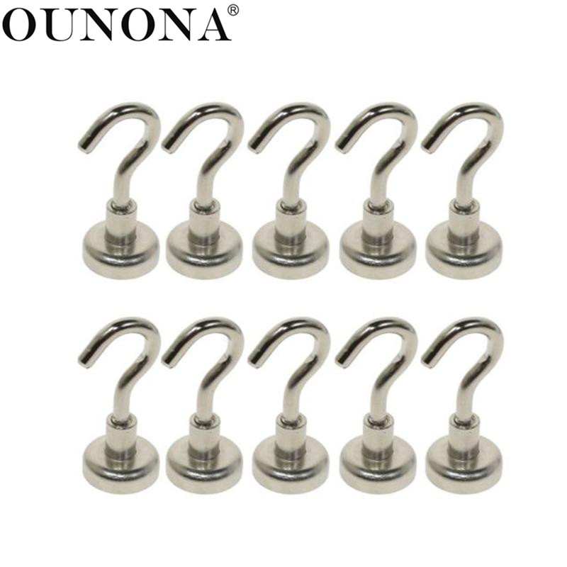 6Pcs Stainless steel adhesive door hook kitchen wall hanging towels bathroom PB
