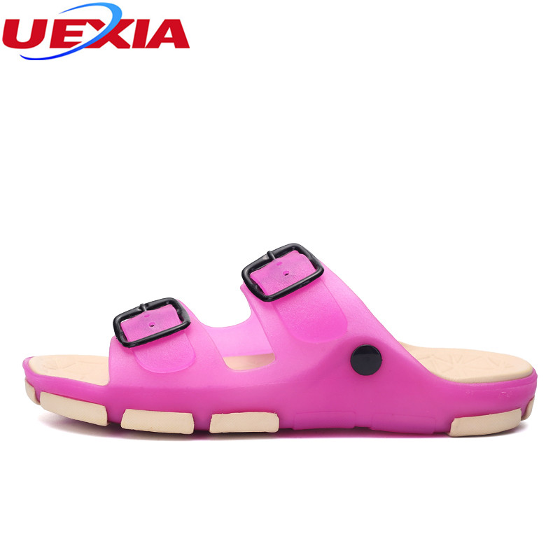 UEXIA Summer Slippers Women Breathable Beach Shoes Casual Slip-on Flats Printing Flower Slides Fashion Comfortable Female Slides цена