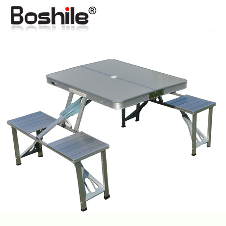 Free Shipping Boshile Outdoor Folding Tables And Chairs Set Aluminum Alloy  Folding Dining Table And Chairs