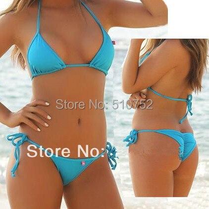 MANYIER swimsuit summer new Hot sexy pure color women bikini set bandage swimsuit brazilian multi-color swimwear bikini women 2