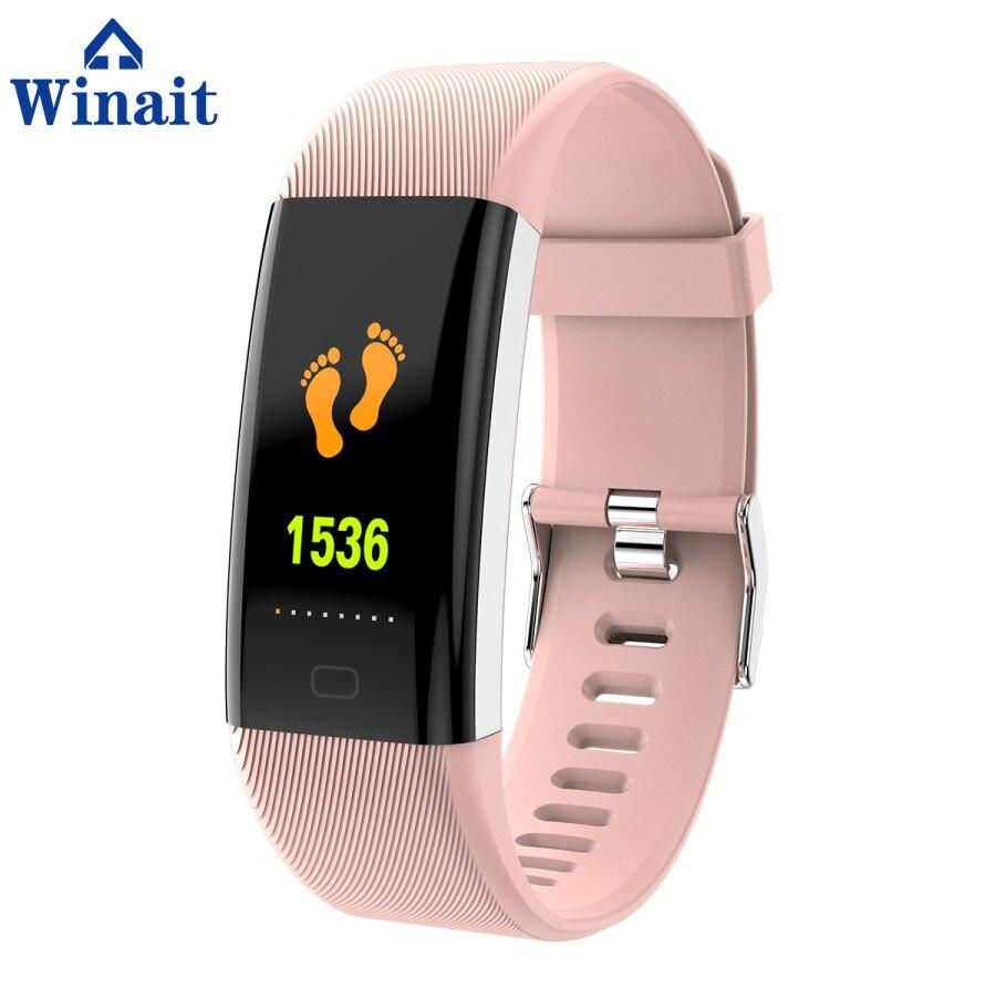 Winait F07 ip67 bracelet de sport étanche, affichage couleur/fréquence cardiaque/pression artérielle/oxygène sang numérique intelligent poignet bande fitness - 5