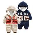 Mameluco del bebé recién nacido de punto de terciopelo chaqueta de punto ropa de invierno invierno