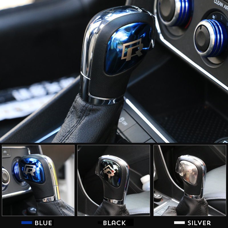 R Line Chromed Gear shift Knob Trim Cover Plate for Volkswagen VW TIGUAN GOLF POLO Beetle Bora Passat CC Scirocco Sagitar Lavida in Interior Mouldings from Automobiles Motorcycles